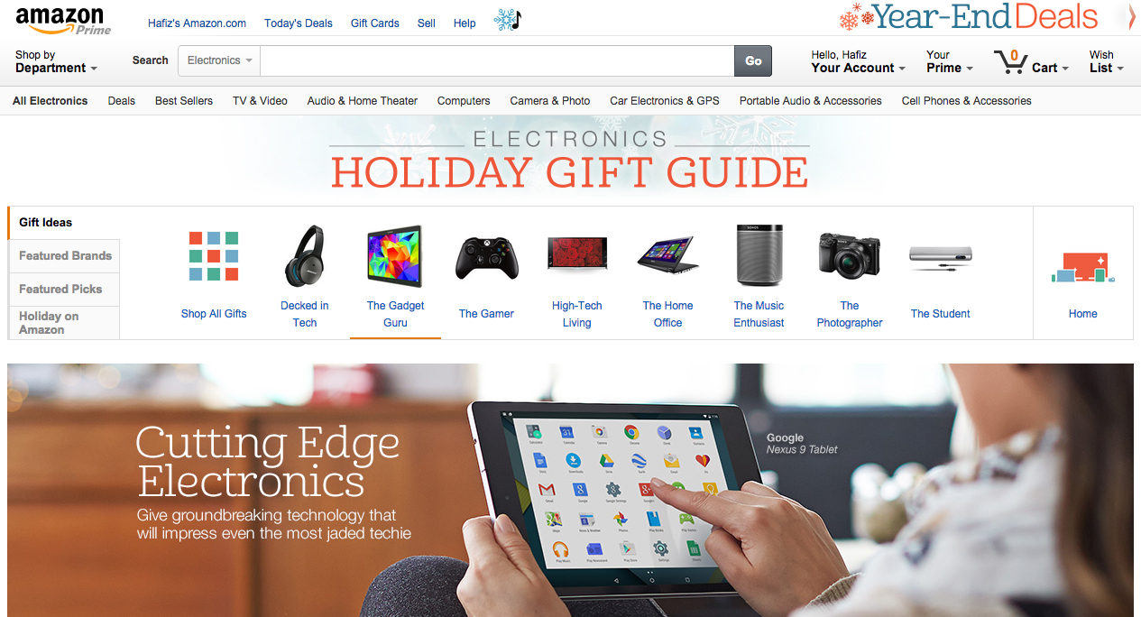 amazon electronics gift guide
